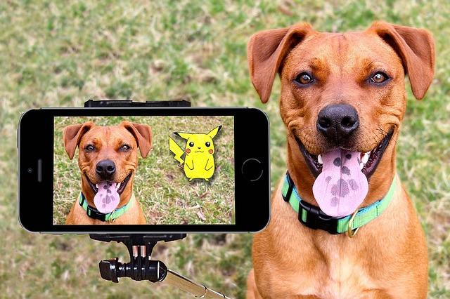 selfi with dog